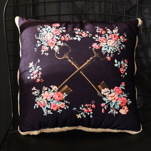 Fashion Style Tassels Decoration Cushion Soft Comfortable Home Sofa Blanket Pillow Printed Luxury Car Pillow Free Ship