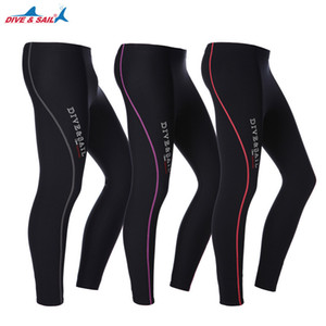 DIVE&SAIL Men Women 1.5MM Neoprene Diving Pants Wetsuit Ankle-length Swimming Pants Snorkeling Rowing Sailing Surfing Keep Warm