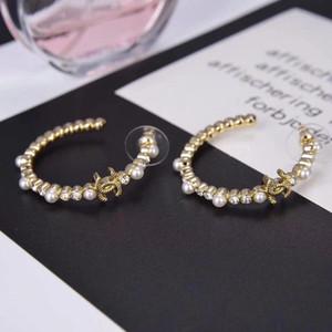 qualité excelent Nouvelle arrivée vente chaude Boucle d'oreille Hoop avec un cadeau charme bijoux punk perles timbre fête correspondance PS4241