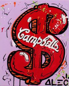 Alec Monopoly Opere Schermo rosso su sfondo viola Home Decor Artigianato / HD Stampa della pittura a olio su tela di canapa di arte della parete della tela di canapa 200512