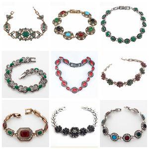 Bijuterias 32 Different ouro Estilo Tibet Cor Branca étnicas Bohemia Pulseiras para Mulheres Feminino Vintage pulseiras atacado