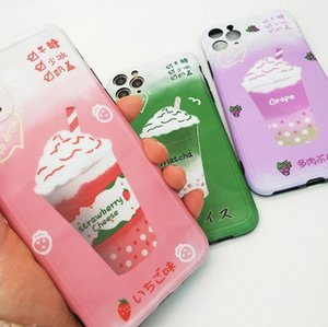 For Applicable To Apple 11 Mobile Phone Case For iPhone Personality Creative Strawberry Matcha Grape Milk Tea Mobile Phone Case