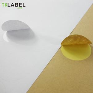 Крафт / глянцевая белая круглая этикетка, 20 листов для печати наклеек для струйных и лазерных принтеров 2 см 2,5 см 3 см 3,5 см 4 см 5 см 6 см Q190529