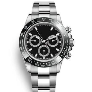 Mode de caoutchouc Mouvement mécanique automatique de balayage main femmes Céramique Bezel l Mens Watch Montres design de luxe Montres-bracelets
