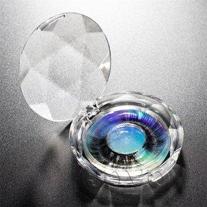 Vamma Stock Handmade 19mm a 25mm Lungo Fluffy Soft 3D 5D Striscia morbida Faux Mink Eyelashes Etichetta privata con scatola laser in cristallo rotondo