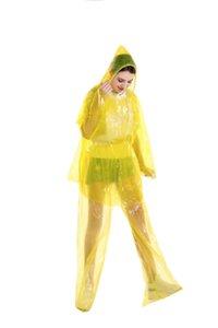 Split Disposable Raincoats PVC One-Time Poncho Ride Motorcycle Rain Coat Overalls Waterproof Rain Pants Suit Protective Cloth GGA3367-6
