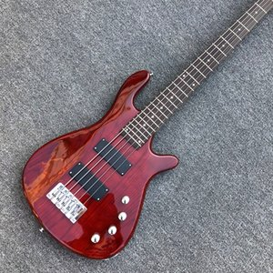 Custom 2020 New arrival Wine Red 5 Strings Bass guitar W logo solid body Electric Bass free shipping