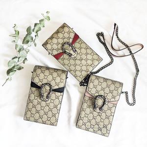 패션 휴대 전화 가방 정품 가죽 여성 디자이너 핸드백의 간단한 미니 메신저 크로스 바디 어깨 체인 가방 여성 지갑
