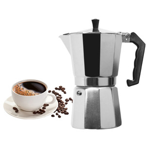 Cafetière en aluminium Mocha Espresso Percolateur Pot Cafetière Moka Pot 1cup / 3cup / 6cup / 9cup / 12TASSES Stovetop Machine à café