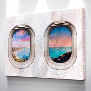 "Alec Monopoly Bürokunst ""Window Seat"" Wohnkultur Handbemalte HD-Druck-Ölgemälde auf Leinwand-Wand-Kunst-Leinwandbilder 200524"