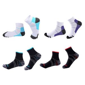 1 пара Мужчины Женщина дышащей Пот-абсорбент коротких носки досуг Спорт Foot Compression Socks Упругой Одежда принадлежность