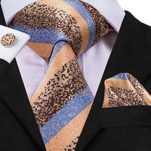 Hi-Tie 100% Silk Hand Made Neckties For Men Shirt Clothing Accessories Ties Hanky Cufflinks Set Suit Formal Business Wedding
