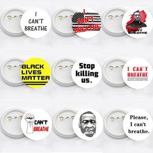 Я не могу дышать броши Black Lives Matter Parade броши George Floyd Trump USA Flag Pin Badge Party Favor 14styles RRA3144