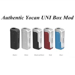Authentic Yocan UNI Mod E Cigarette Box Mod For All Width of Cartridges Preheating Voltage Adjustable Vape Mod 5 Colors