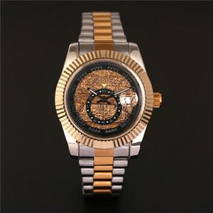 2020 relojes de señoras de la flor cuadrada reloj de oro llena de diamantes de diamantes de imitación mujeres diseñador suizo relojes automáticos del reloj pulsera