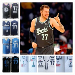2019 rising 77 star Doncic Stitched jerseys Sport Jersey SHIRTS Luka 7 Real madrid hot sale free shipping wholesale cheap 2020