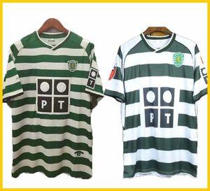01 03 04 Sporting Clube de Portugal Soccer Jersey 2004 Lisbonne # 28 Ronaldo de football Maillot de football manches PERSO uniforme 2001 2003