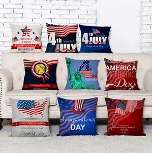 Fundas de cojines Bandera Americana Funda de Almohada Decorativa Stars Stripe Throw Pillows Cubierta Sofá Pillowslip Home Decor 9 Diseños YW3782