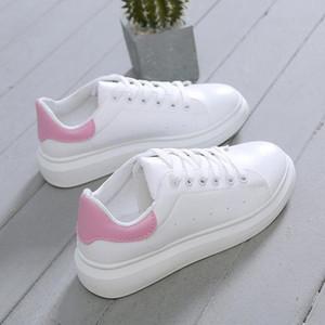 Горячая Женская обувь модные белые кроссовки коренастые Вулканизированные туфли женские весна лето платформа Tenis Feminino женская Повседневная обувь