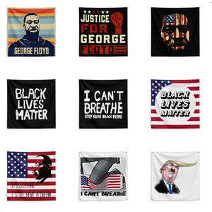 I can't breathe Tapestrys George Floyd Black Lives Matter Tapestry banner Tapestries 6096