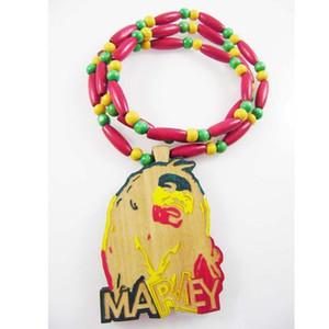 Moda Hip-pop Colar de Jóias Cor Mary Pingente Bead Bom Colar De Madeira Para Mulheres Dos Homens de Jóias C19011501