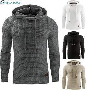 Grandwish Drop Shipping Hoodies Erkekler Uzun Kollu Katı Renk Kapüşonlu Kazak Erkek Hoodie Rahat Spor Artı Boyutu S-5X, DA760