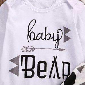 2019 NEW Baby Black Bear 3Pcs Hot Newborn Baby Girls Boy Long Sleeve Romper+Pants +Hat Outfits Clothes Set