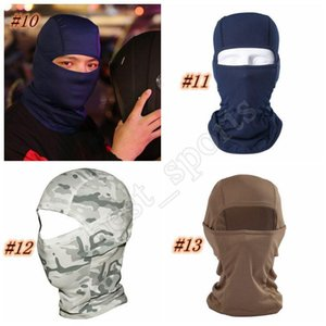 13 estilos de ciclismo Máscaras 6 en 1 Barakra Sombrero Caps deporte al aire libre a prueba de viento máscara de esquí CS Polvo Sombrero de camuflaje táctico máscara ZZA1337 500pcs