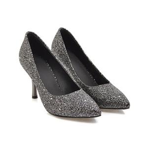 Sexy2019 간결한 봄 얕은 입 Single Sharp Shoes Sexy Fine와 나이트 클럽 Shoes T262
