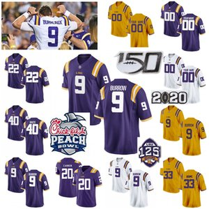 LSU Tigers College Football Jerseys Tyrann Mathieu Jersey Devin Branco Nick Brossette Jacob Phillips Billy Cannon roxo personalizado costurado