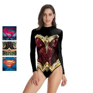 Justice League Wonder Woman cosplay Superman Swimsuit King of the Sea Hero dress performance dress women's long-sleeved swimsuit