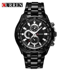Reloj Hombre Curren 8023 Марка Простая Мода Повседневная Бизнес Часы Мужчины Дата Водонепроницаемый Кварцевые Мужские Часы Relogio Masculino Y19051503