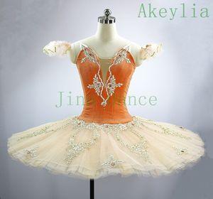 Peach Orange TUTU Bancake Nutcracker Рождественская пачка для девочек Performance Tutus Classical Place Stage Costume Professional Балетное платье
