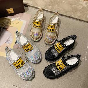 Art und Weise Frauen Glitter Schuhe Mesh-Breathable Schuhe Low-top Sneakers Beathable starke untere beiläufige Frauen Schuhe De Mujer