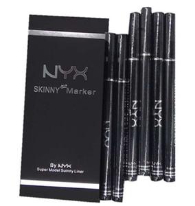 NYX Cosmetics Black Liquid eye liner Skinny Maker Eyeliner Pen delineador de ojos Eyebrow Pencil Maquillaje