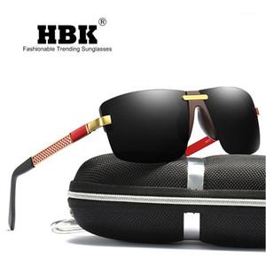 Men Sunglasses 2020 Trend Aluminum Magnesium Rimless Men's Polarized Pilot Sunglasses Oculos Male Eyewear Accessories Gift for Men PM00691