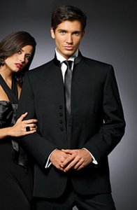 2016 New Groom Tuxedos Suits For Men Black Single Breasted Button Fshion Groom Wedding Tuxedo (Jacket+Pants+Tie+Vest)