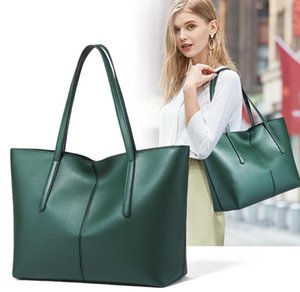 Tote Bag Female 2020 New Fashion Leather Portable Big Bag European and American Style Black, White, Green, Red Handbag