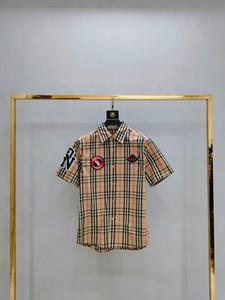 2020 Mens Designer Camicie Designer Nero Bianco Rosso Moda Uomo Top manica corta L'alta qualità S-XXL141