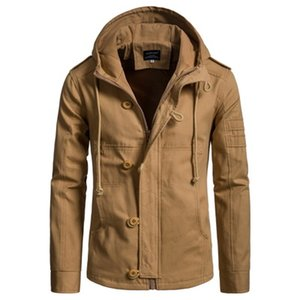 Designer Jackets New Mens Hooded Cotton Jacket Cardigan Jacket YJ006 Fashion Casual Wear 2020 Autumn Size S-3xl Top Quality