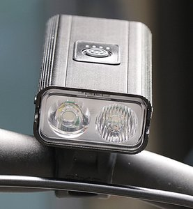 New Double T6 Bicycle Lamp USB Charging Outdoor Riding Electric Display Red Light Warning Lighting Bicycle Headlight