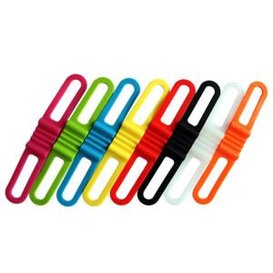 4 unidades / pacote de Silicone Strap Bicicleta Frente Luz Titular Bicicleta Guia de Fixação Tie Bycicle Tocha Lanterna Bandagens Speaker Mount