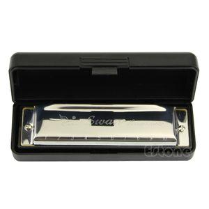Blues Rock Caz Halk harmonicas Yeni Ücretsiz Nakliye için C Gümüş Kuğu Mızıka 10 Delik Anahtar