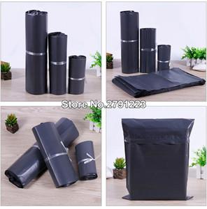 100Pcs / Lot Plastik Zarf Kendinden mühür Yapışkan Kurye Saklama Poşetleri Beyaz Siyah Gri Plastik Poly Zarf Mailer Kargo Poşetleri