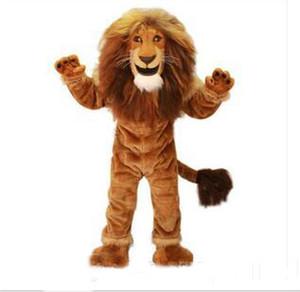 2018 di alta qualità hot lion mascotte costume adulto dimensione coraggioso leone del fumetto costume festa in maschera vendita diretta della fabbrica