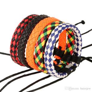 Подвески Браслеты ручной работы Vintage Weave Кожа PU Браслеты Аксессуары Кожаный браслет