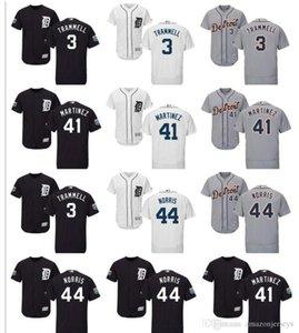 Özel Erkek Bayan Çocuk gömlekler Detroit Tigers Jersey 41 Victor Martinez 44 Daniel Norris 3 Alan Trammell Beyzbol Jersey ücretsiz kargo hediye