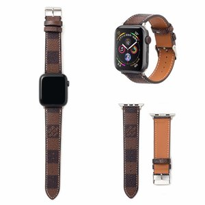 iWatch 시리즈에 적용 패턴 디자이너 애플 시계 스트랩 (38) (40) (42) 44mm 정품 가죽 교체 밴드 남여 패션 럭셔리