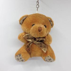 10CM Teddybär mit Schal Plüsch-Puppen Puppe Schlüsselanhänger Baby-Geschenk-Mädchen-Spielwaren Hochzeit Wurf- und Geburtstags-Party-Dekoration 100pcs von amazzz