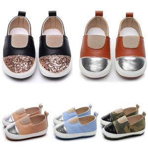 2020 New Fashion Casual Toddler Kids Baby Girls Boys Shoes Cute Color Matching First Walk Slip-On Baby Accessories Casual Shoes #C1